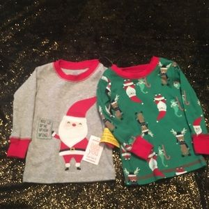 Just one you size 12 months 2 pajama tops NWT